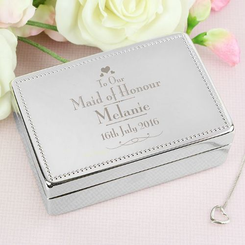Decorative Wedding Maid of Honour Jewellery Box